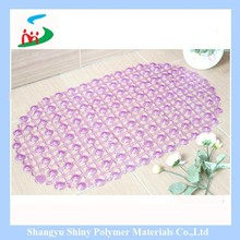 2015 hot sale anti-slip suction shower mat pvc bath mat