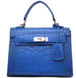 DY0370Z 2015 Europe style snakeskin pu leather tote handbag