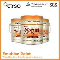 Water Based emulsion coating for wall decor