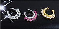 Fashion body jewelry alloy nose ring/jewel nose ring/fashion nose ring