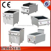 Hot sale Lava rock grill With Cabinet , Commercial stainless steel electric bbq grill