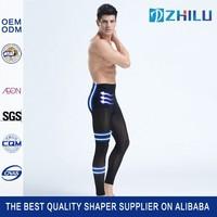 Man's silk stockings elasticity thermal high waist pants seamless underwear shaper