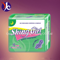 brand name shing girl sanitary napkins with import fluff pulp