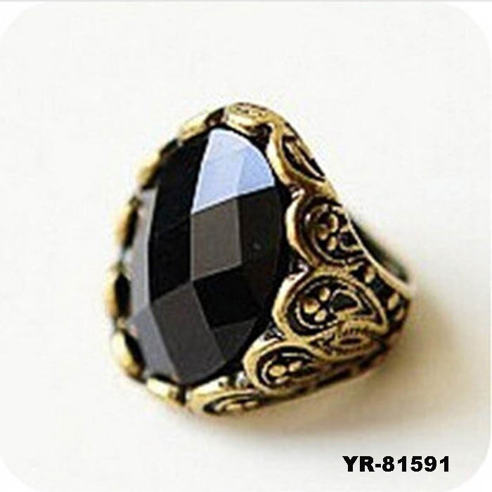 Black onyx rings for women