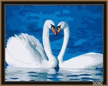 Chinese high quality wholesale handmade oil painting swans
