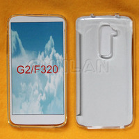 High transparency clear tpu rubber case for lg g2