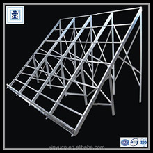 aluminum extrusion supporting system for pv solar panel