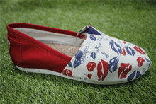 2016 China canvas shoes printing footwear