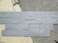 black slate stack wall veneer z brick stone