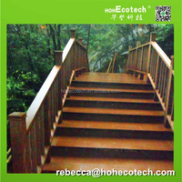 Water-proof composite wooden stairs for gardening
