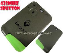 renault laguna 2 botón llave de tarjeta inteligente con hoja 433 mhz
