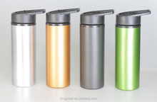2015 Hot sale 750ml aluminium sports bottle/Aluminum water drink bottle with straw good for promotion