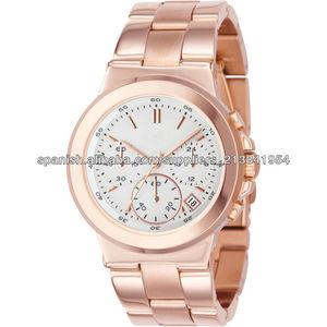 2013 aleación de moda señoras reloj de los hombres de oro amarillo de mk reloj venta al por mayor