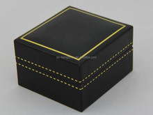 Antique plastic jewelry box ring box , pendants box with gold stamping logo supplier