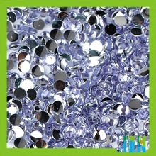 Charm clear violet foil back resin rhinestone for 3D decoration