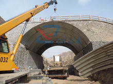 epoxy coating corrugated steel pipe, galvanized road construction culvert pipe