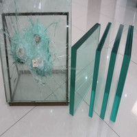 Super white Tempered Bulletproof glass with CSI for sunroom/stair/window/door
