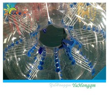 Hot!! 1mm PVC inflatable human balloon/human sized soccer bubble ball