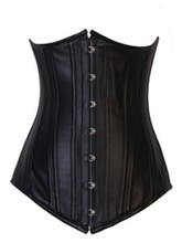 2015 New Fashion Sexy Women's Extra Long Pu leather Corset Steel boned underbust plus sizes lingerie cheap price