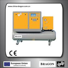 5.5kw 7.5hp tank mounted screw air compressor(portable screw air compressor)
