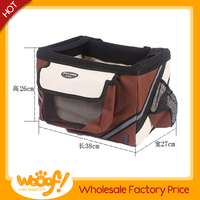 Hot selling pet dog products high quality dog bicycle basket