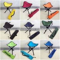 Folding portable three leg triangle fishing stool chair with free case