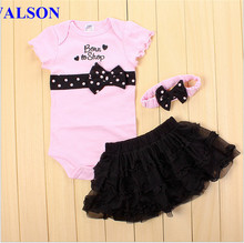 Walson Girls Rompers Tutu Skirts 2pcs Clothing Sets Baby Suits infant rompers sets clothing underwear