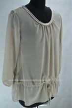 2013 blusa de gasa de la moda para las señoras hermosas