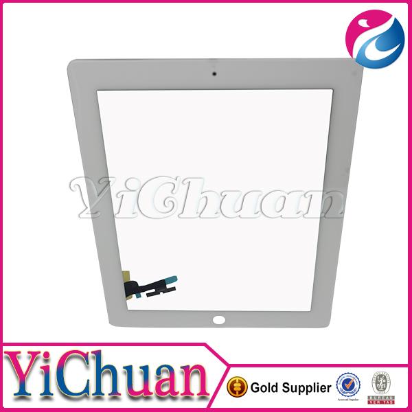 Thay thế Cho iPad 2 Oem Mới Digitizer Với Home Buttton Flex Cable 3 M Sticker Trắng Đen