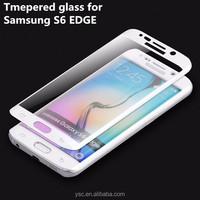 Mobile phone accessories full cover edge screen guard for samsung s6 edge 3D matte screen protectors