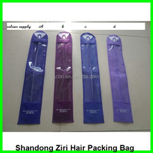 Fast shipping hair extension plastic bags