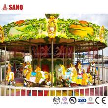 2014 China Hot Sale Certificate 24 Seat Fiberglass Carousel Horse