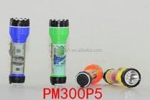 SWORD LION brand new design colorful and various pictures plastic led flashlight torch light 2xD batteries power supply