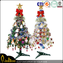 2015 cheap best selling fashion christmas tree with free decorations, latest design 1.5m led height christmas tree