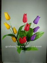 artificial smile tulip flower(4heads)