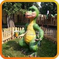 Outdoor And Indoor Exhibits Inflatable Green Dinosaur Cartoon