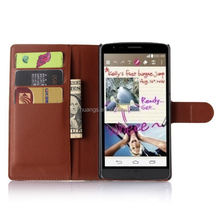 Luxury cell phone cover wallet leather with card slots stand flip wallet leather case for lg g4 note wholesale alibaba
