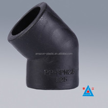 pn16 HDPE pipe fitting elbow 45 degree water pipeline 32mm