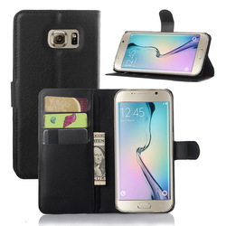 Wallet Flip PU Leather Case Cover for Samsung Galaxy S6 edge plus with Stand & Card Holder