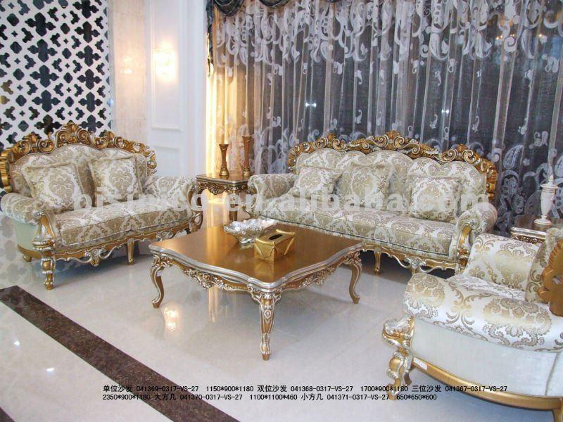 Lusso europeo divano classico set intaglio del legno set - Divano classico lusso ...