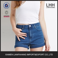2016 Wholesale price sexy ladies top design short jeans for women