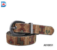 Fashion female woven beaded belt
