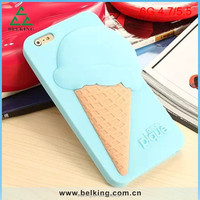 With Package Rubber Case For Iphone 6, For iPhone 6 Dual Candy Color Case, Silicon Gel Case For iPhone 6