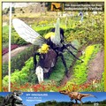Mi dino- a02 jardín botánico de insectos animatronic decoración de la escultura
