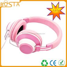Fashion stylish top 20 best price pinky fun color cute headphone