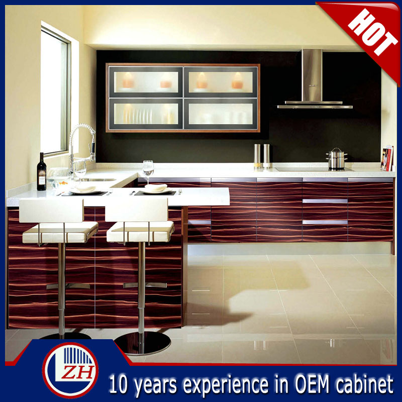Guangzhou Cheap Wood Grain Laminate Kitchen Cabinets Buy