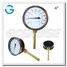 High quality black steel bimetal pipe thermometer