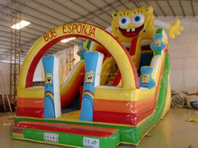 2015 hot sale inflatable spongebob water slides