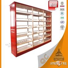 Heavy Duty Library Furniture Metal Bookshelf/Book Rack Price