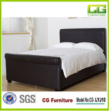 modern popular european style carved sleigh bed